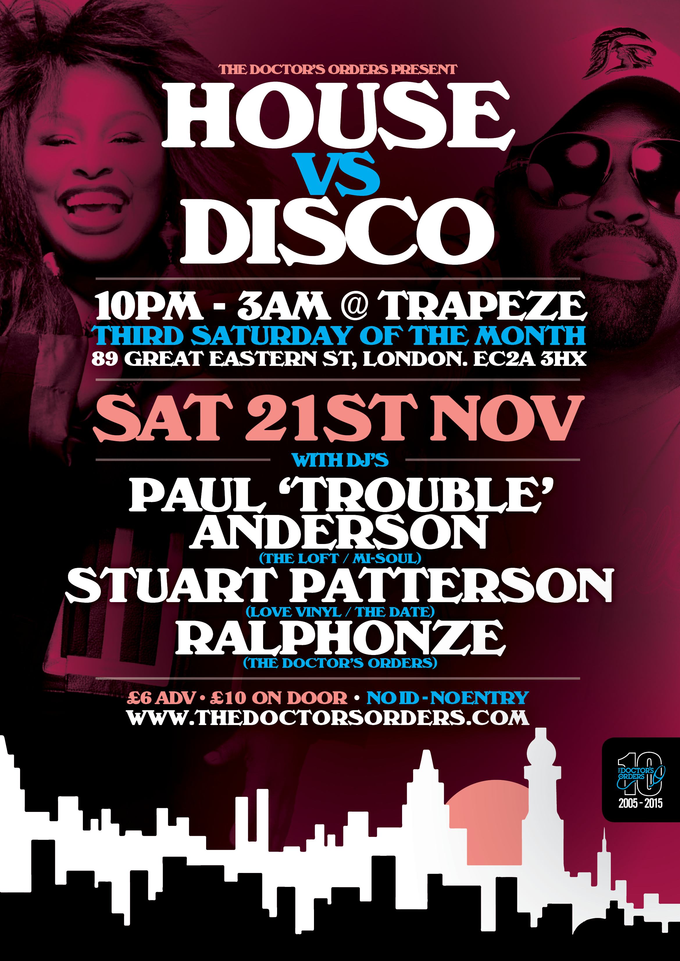 The doctor s orders present house vs disco for House music london