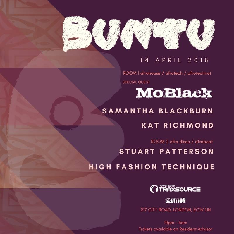 Moblack exclusive mix and interview ahead of buntu 14 april for House music london